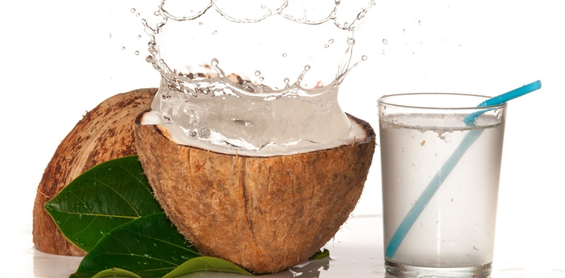 Coconut Water Image source -- https://www.flickr.com/photos/thelivingpress/16544800683/sizes/l