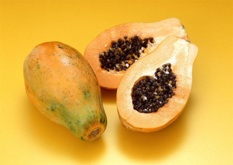 Ripe Papaya Image source -- https://www.flickr.com/photos/76886177@N07/7208324770/sizes/l